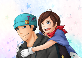 AA: Trucy and Papa by ozamham