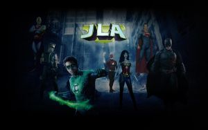 Justice League Wallpaper (The Avengers style) by Hurley815