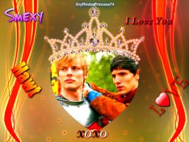 King Arthur and King Merlin by GryffindorPrincess74