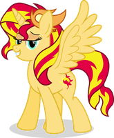 MLP-GD Game - Sunset Shimmer by flashlighthouse