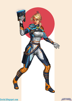 Reboot Suit Samus by Zesiul