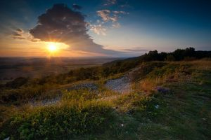 sunset at the hill by mescamesh