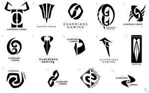 Guardians Gaming Logo Concepts by ameshin