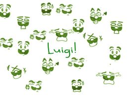 Luigi Wallpaper by LoveandCake
