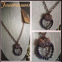 Owl Necklace by FoxeeTreasures