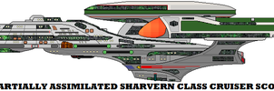 Partially Assimilated Sharvern Class Cruiser Scout by mcspyder1