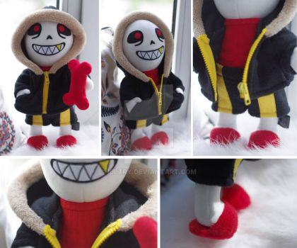 UNDERFELL SANS PLUSH HANDMADE TOY by illtry