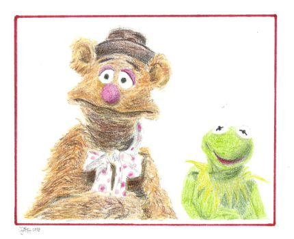 Fozzie and Kermit by KingOfSoul81