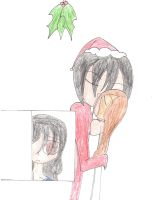 I see my little brother kissing Santa by WarriorNun