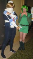 Cosplay Check:Shiek and Saria by Rhythm-Wily