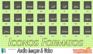 Iconos Formato Audio Imagen y Video Black by TutozzOrangee
