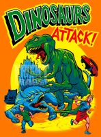 DINOSAURS ATTACKS final colors by pop-monkey