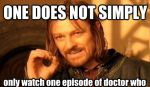 Watching a single episode of Doctor Who by Land-Sharkz