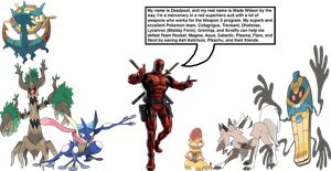 Deadpool's Pokemon team