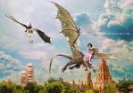 Traveling on the dragon by Lubov2001