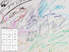 EXO Signatures PS brush pack by moontos