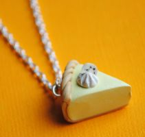 Banana Cream Pie Necklace by ClayConnections