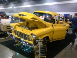 55' Yellow Chevy PickUp B by Eagle07