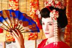 Maiko Fan Dance by tajfu