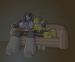 Tired Jazz and Bumblebee by shafau