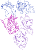 headshot sketches by Ligax