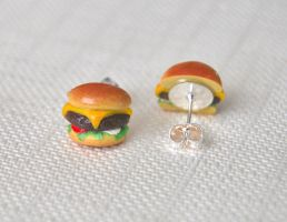 Hamburger Earrings by Madizzo