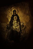 Apse Mosaic of the Theotokos by museby