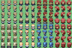 Free Radical Game Sprites (Attempt) by DemonHuntRPG