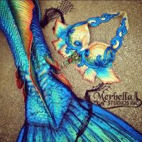 Sneak peek rainbow details by MerBellas