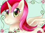 Prize: Roseluck Alicorn by SakuraTenshi101