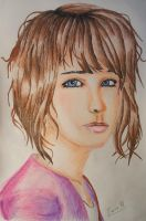 Max Caulfield prismacolor portrait by Gattsu88