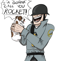 Soldier and Puppy by O-S-M