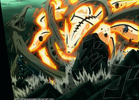 Naruto 607 Dragron Of Wood Vs Fox Fire by IITheYahikoDarkII