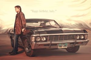 [Supernatural] Dean's baby :D by VividcrayonXD