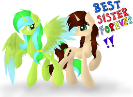 Best sister forever ^^ by Skajcia