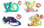 Chibi Dragons -- CLOSED by The3Ss-Adopts