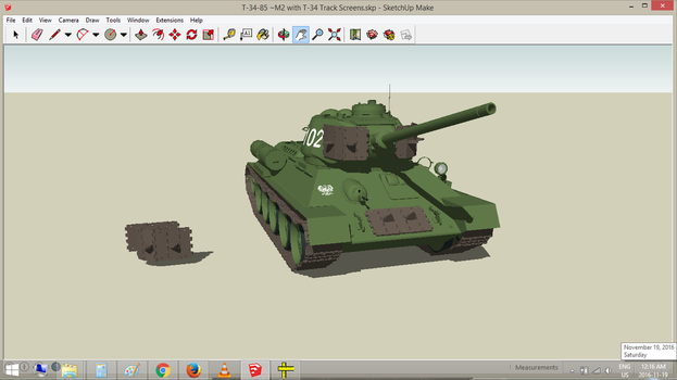 Polish T-34/85M2 with T-34 Track Screens by withinamnesia