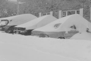2015 January Blizzard, Car Snow Drifts by Miss-Tbones