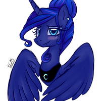 Princess Luna's new manestyle by katkakakao