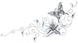 Flower Butterfly chicano Climb by 2Face-Tattoo
