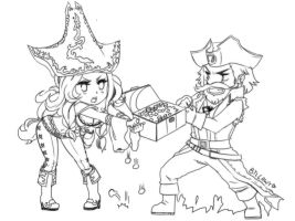 MissFortune and Ganplank by lawy-chan
