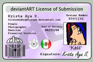 Deviantart License by SilverMidnightCross