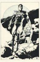 Kryptonians inked by Ace-Continuado