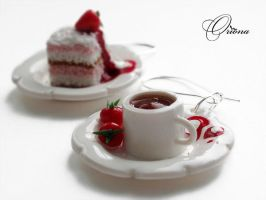 Tea with strawberries 3 by OrionaJewelry