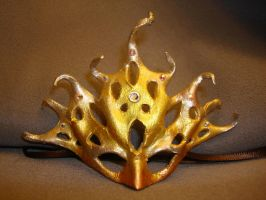 Golden Coral Mask by MaiseDesigns