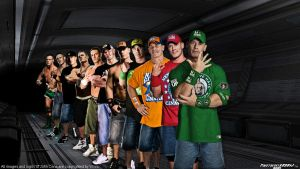 WWE Evolution of John Cena Wallpaper Widescreen by Timetravel6000v2