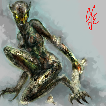 Reptilewoman by Dismay666