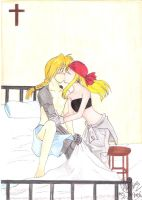 FMA: Winry kiss Ed by suggy-chan