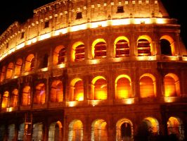 The Illuminated  Colosseum by Dieffi