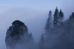fog in mountains by percya93